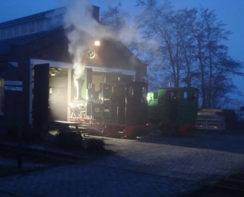 Opstoken Stoomtrein Katwijk Leiden